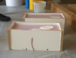 Lasts curing in one-time mold.
