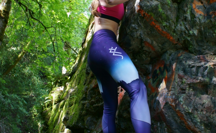 SFT Climbing leggings undergoing wear testing.